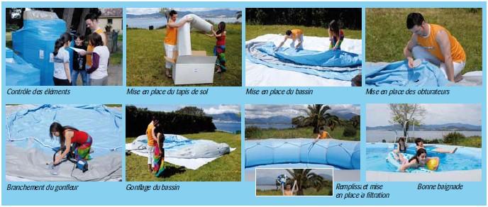 Kit piscine hors-sol autoportante Zodiac OVLINE 3000 ovale 9.20 x 6.30 x 1.30m - Un montage simple et aisé