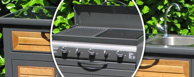 Cuisine d'exterieur Somagic RIVOLI 3 modules au gaz - Somagic, une marque de renom depuis 30 ans