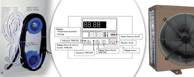 Pompe a chaleur Aqualux VESUVIO reversible 22kw tri pour piscine jusqu'a 150m³ - Aqualux VESUVIO Performance et confort