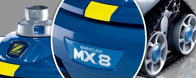 Robot piscine hydraulique Zodiac MX8 navigation X-DRIVE - Robot piscine hydraulique Zodiac MX8 un concentré de technologies brevetées