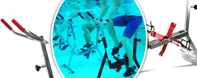 Aquabike Archimede OPTIMA PRO cadre inox satine pour piscine - Aquabike Archimède pour un usage au quotidien