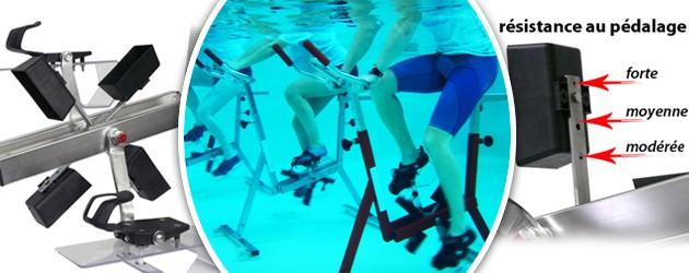 Aquabike Archimede SILVER 6 cadre inox satine pour piscine - Aquabike Archimède SILVER 6 pour un usage au quotidien