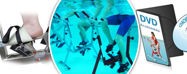 Aquabike Archimede FAMILY revetement thermoplastique rouge pour piscine - Aquabike Archimède FAMILY Pour un usage au quotidien