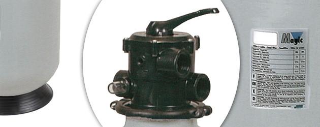 Filtre a sable MAGIC MT610 14m3/h avec socle et vanne 1 - Filtre à sable Procopi MAGIC MT, endurance et performance