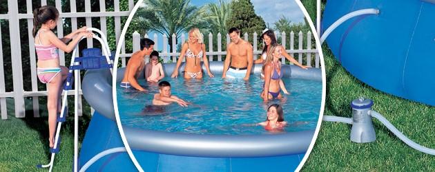 Piscine hors-sol autoportante Bestway FAST SET POOL ronde Ø4,57 x 1,22m - Avantages des piscines hors-sol tubulaires Bestway FAST SET