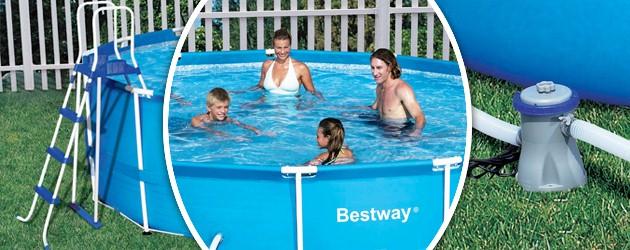 Piscine hors-sol tubulaire Bestway STEEL PRO SUPER DELUXE ronde Ø3,66 x 1,22m - Avantages des piscines hors-sol tubulaires Bestway STEEL PRO