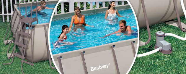 Piscine hors sol bestway steel pro frame pool for Piscine rectangulaire bestway