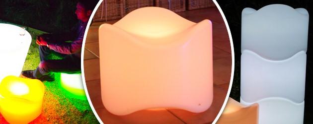 Siege lumineux sans fil empilable Loon POOF a LED 47x37cm pour piscine et jardin - Caractéristiques du siège lumineux empilable POOF pour piscine et jardin