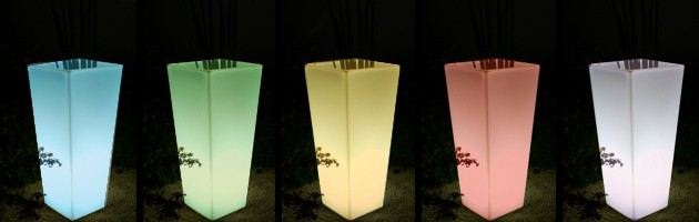 Vase lumineux sans fil Loon KEOPS a LED 35x35x50cm pour piscine et jardin - Caractéristiques du vase lumineux sans fil Loon KEOPS à LED pour piscine et jardin