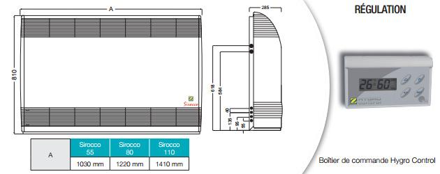 Deshumidificateur d'ambiance Zodiac SIROCCO 80 mono avec batterie eau chaude 9kW - Avantages du déshumidificateur Zodiac SIROCCO