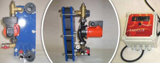 Echangeur de chaleur a plaques titane VESUVIO 35kW equipe - Echangeur de chaleur VESUVIO à plaques titane