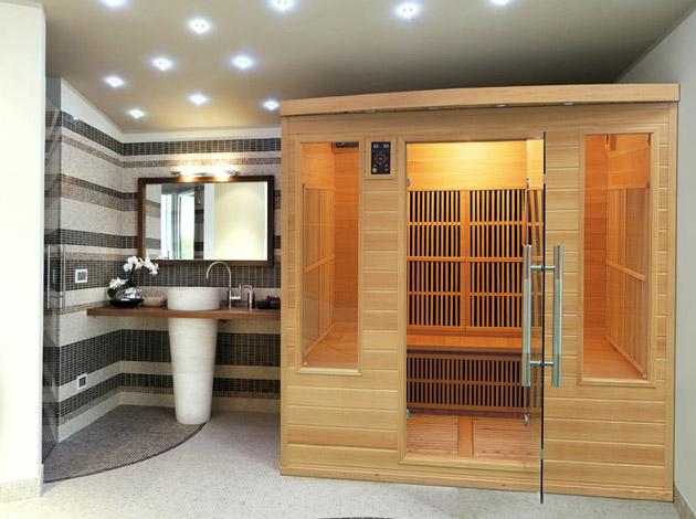 Sauna infrarouge cabine 2-3 places APOLLON puissance 2130W - Sauna infrarouge cabine APOLLON, avantages et caractéristiques