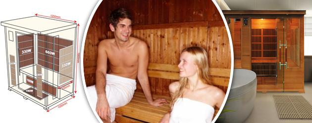 Sauna infrarouge cabine 2 places LUXE puissance 1820W - Les origines du sauna La Finlande