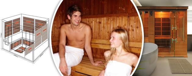Sauna infrarouge cabine 4-5 places LUXE CLUB puissance 3000W - Les origines du sauna La Finlande