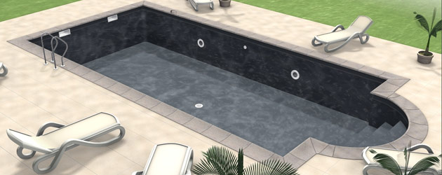 Liner piscine enterr e superliner 85 100 me type hung coloris noir au m sur march - Liner noir pour piscine ...