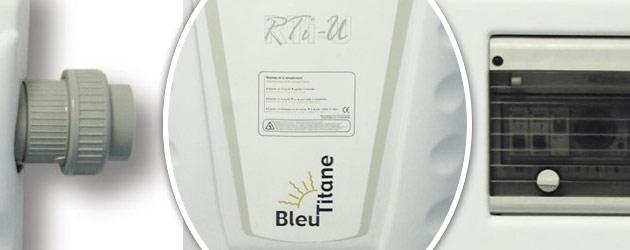 Rechauffeur electrique Bleu Titane RTI-U 12kW Titane pour bassin de 60m³ a 120m³ - Avantages du réchauffeur piscine Bleu Titane