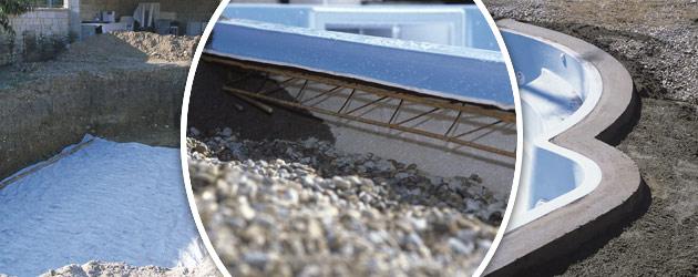 Piscine enterr e coque jamaica platinum grise bloc de - Pose margelle piscine coque ...