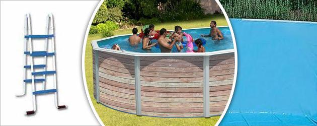 Kit piscine hors-sol acier Toi PINUS ovale 5.50 x 3.66 x 1.20m decor bois - Avantages des piscines Toi PINUS