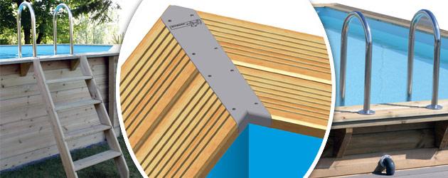 Kit piscine bois Nortland Ubbink LINEA rectangulaire 500x1100x140cm liner beige - Avantages des piscines bois Nortland Ubbink LINEA