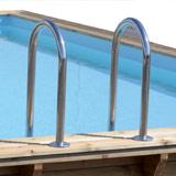 Kit piscine bois Nortland Ubbink LINEA rectangulaire 500x1100x140cm liner beige - Piscine bois Nortland Ubbink LINEA Complète et prête à plonger