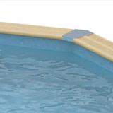 Kit piscine bois Nortland Ubbink OCEA octogonale allongee 400 x 610 x 130cm liner bleu - Piscine bois Nortland Ubbink OCEA Complète et prête à nager