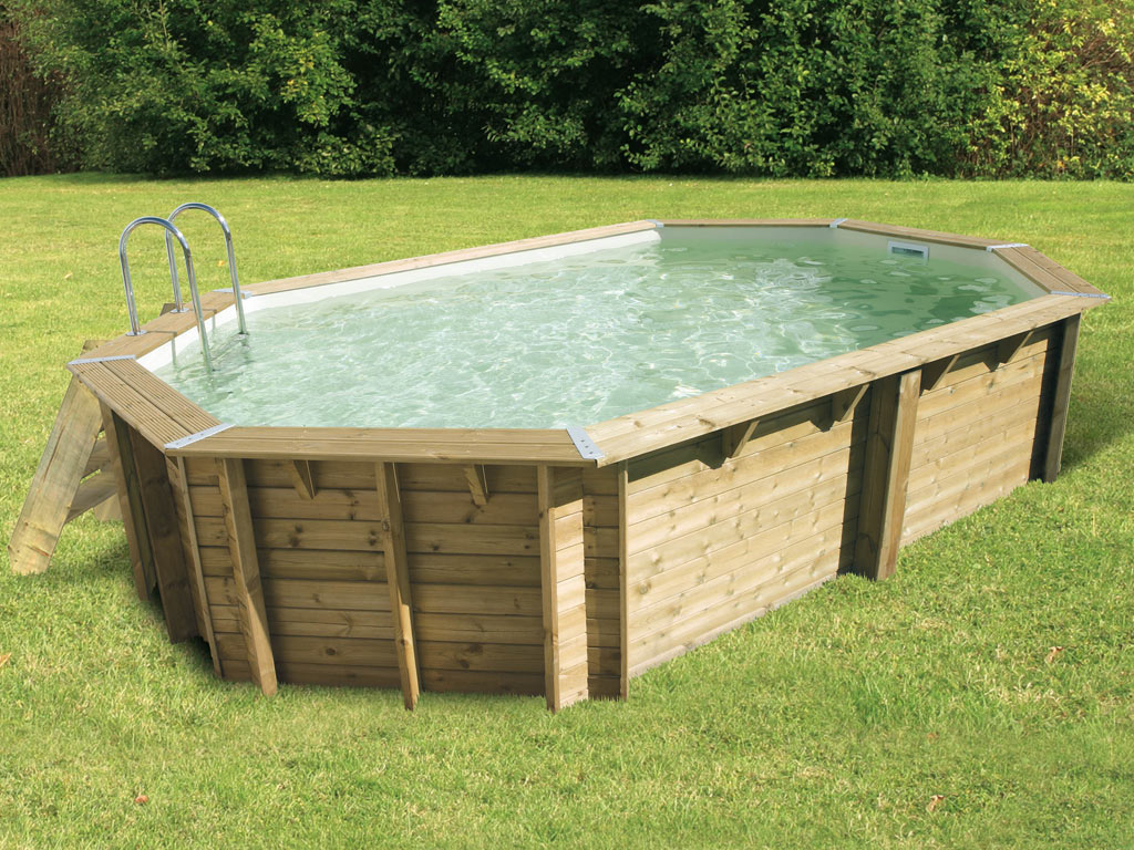 Piscine En Palette De Bois kit piscine bois nortland ubbink ocea octogonale 400x610x130cm liner beige