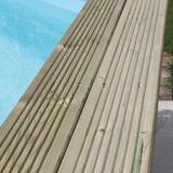 Kit piscine bois Nortland Ubbink AZURA rectangulaire 350 x 505 x 126cm liner bleu - Piscine bois Nortland Ubbink AZURA Complète et prête à nager