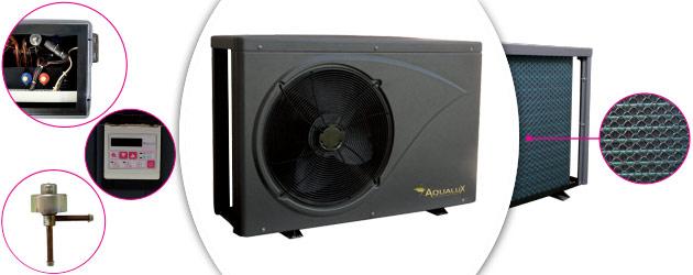 Pompe a chaleur Aqualux VESUVIO reversible 33kW tri pour piscine jusqu'a 150m³ - Avantages des pompes à chaleur piscine Aqualux VESUVIO réversible