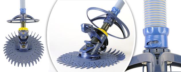 Robot piscine hydraulique Zodiac T3 - Nettoyeur de piscine Zodiac T3 simplicité et robustesse