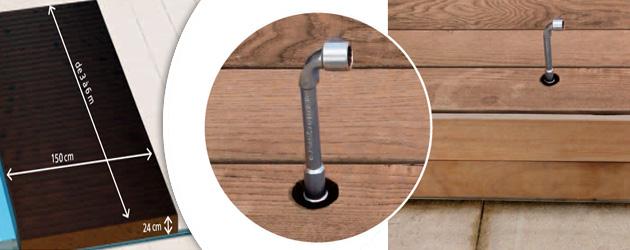 Terrasse mobile WALU DECK pour piscine 10.00 x 5.00m - Walter WALU DECK Des matériaux robustes pour une utilisation ultra simple