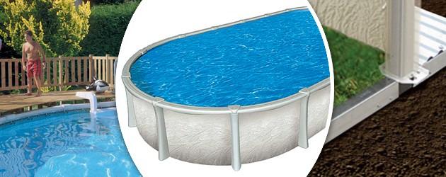 Kit piscine luxe hors sol vogue summum ovale x for Liner piscine vogue