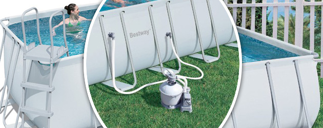 Kit piscine tubulaire Bestway POWER STEEL FRAME POOL rectangulaire 671 x 366 x 132cm filtration sable - Avantages des piscines Bestway POWER STEEL FRAME POOL