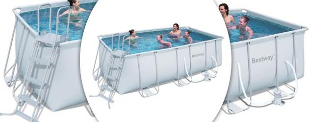 Kit piscine tubulaire Bestway POWER STEEL FRAME POOL rectangulaire 412x201x122cm cartouche - Avantages des piscines Bestway POWER STEEL FRAME POOL