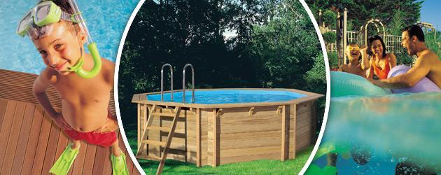 Piscine hors-sol bois BWT myPOOL TROPIC OCTO 414 H120cm - Avantages des piscines bois BWT myPOOL TROPIC
