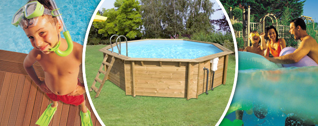 Piscine hors-sol bois BWT myPOOL WEVA OCTO 530 H133cm - Avantages des piscines bois BWT myPOOL WEVA