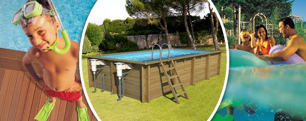 Piscine hors-sol bois BWT myPOOL WEVA RECTANGLE 6x3 H133cm - Avantages des piscines bois BWT myPOOL WEVA