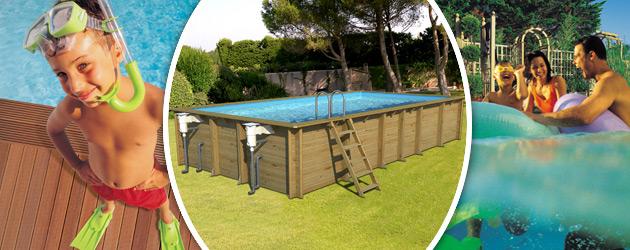 Piscine hors-sol bois BWT myPOOL WEVA RECTANGLE 8x4 H146cm - Avantages des piscines bois BWT myPOOL WEVA