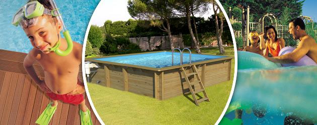 Piscine hors-sol bois ProSwell WEVA CARRE 3x3 H120cm - Avantages des piscines bois ProSwell WEVA