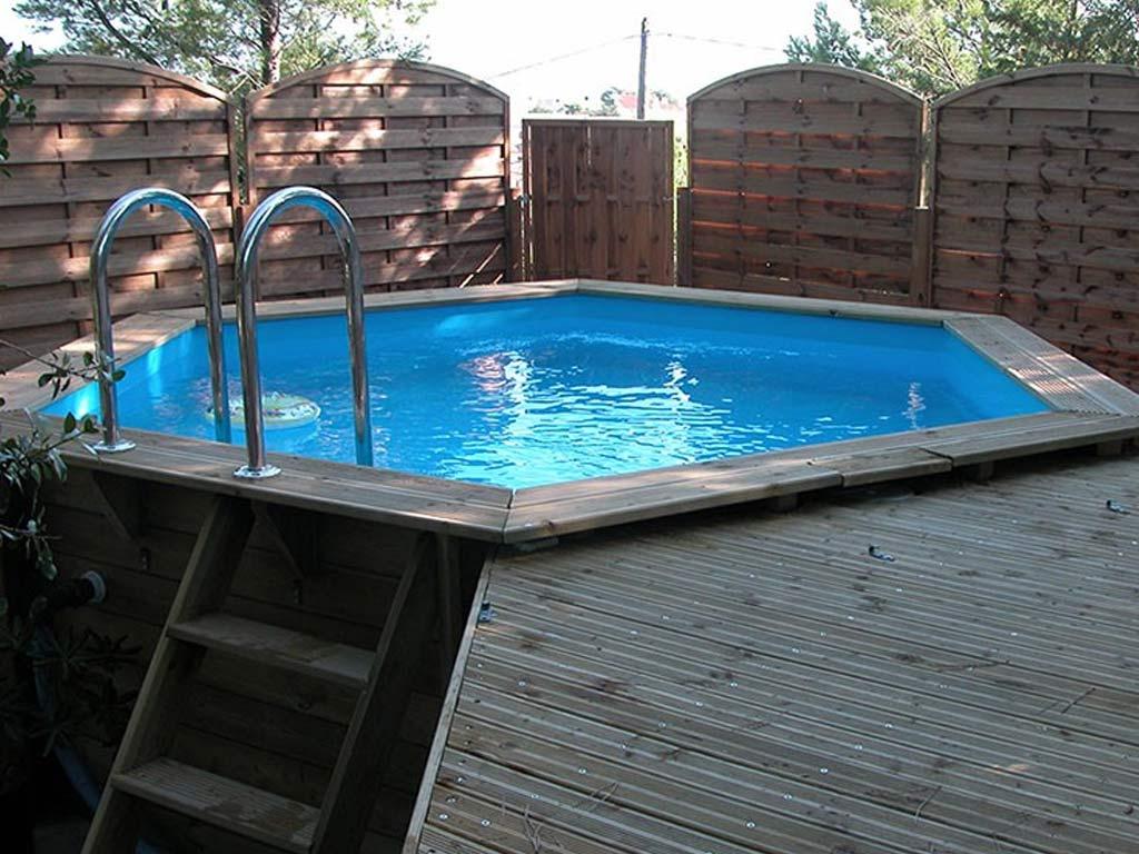 Piscine En Palette De Bois kit piscine bois nortland ubbink azura hexagonale Ø410x120cm + bâche