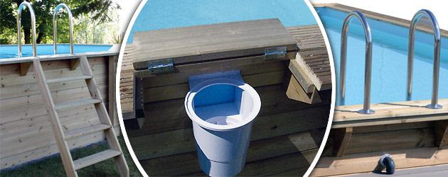 latest kit piscine bois nortland ubbink azura hexagonale x. Black Bedroom Furniture Sets. Home Design Ideas