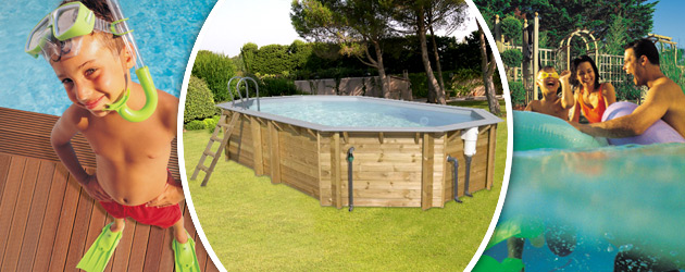 Piscine hors-sol bois BWT myPOOL ODYSSEA OCTO+ 640 H133cm margelles et liner gris - Avantages des piscines bois BWT myPOOL ODYSSEA