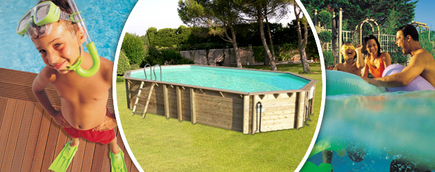 Piscine hors-sol bois BWT myPOOL ODYSSEA OCTO+ 840 H133cm margelles havane liner sable - Avantages des piscines bois BWT myPOOL ODYSSEA
