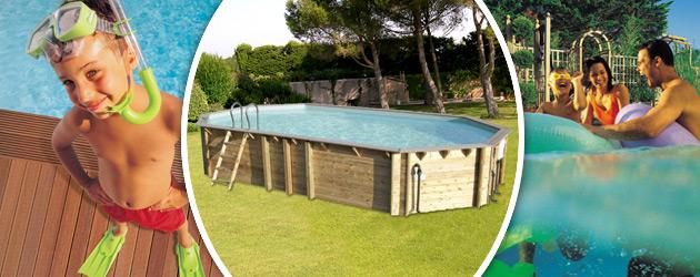 Piscine hors-sol bois BWT myPOOL ODYSSEA OCTO+ 840 H133cm margelles et liner gris - Avantages des piscines bois BWT myPOOL ODYSSEA