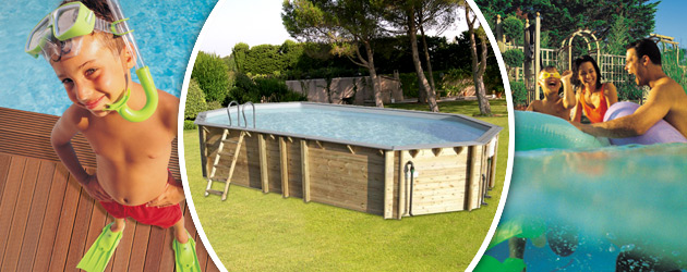 Piscine hors-sol bois BWT myPOOL ODYSSEA OCTO+ 840 H146cm margelles et liner gris - Avantages des piscines bois BWT myPOOL ODYSSEA