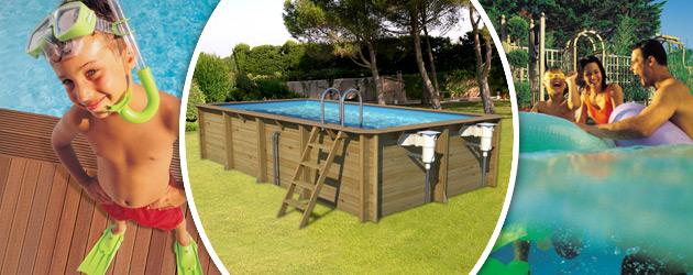 Piscine hors-sol bois BWT myPOOL ODYSSEA RECTANGLE 6x3 H133cm margelles havane liner bleu - Avantages des piscines bois BWT myPOOL ODYSSEA