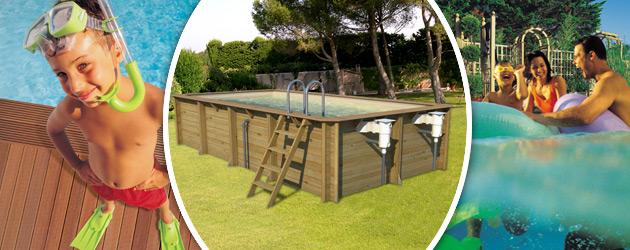 Piscine hors-sol bois ProSwell ODYSSEA RECTANGLE 6x3 H133cm margelles havane liner sable - Avantages des piscines bois ProSwell ODYSSEA
