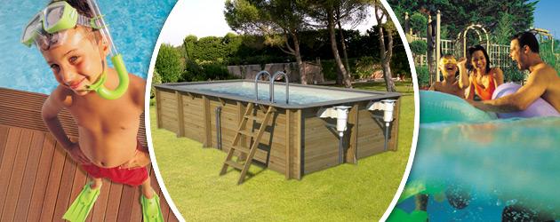 Piscine hors-sol bois BWT myPOOL ODYSSEA RECTANGLE 6x3 H133cm margelles gris cotier liner gris - Avantages des piscines bois BWT myPOOL ODYSSEA