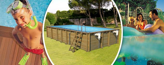 Piscine hors-sol bois BWT myPOOL ODYSSEA RECTANGLE 8x4 H146cm margelles havane liner bleu - Avantages des piscines bois BWT myPOOL ODYSSEA