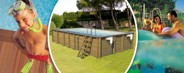 Piscine hors-sol bois ProSwell ODYSSEA RECTANGLE 8x4 H146cm margelles et liner gris - Avantages des piscines bois ProSwell ODYSSEA