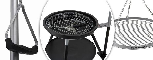 Barbecue charbon de bois Landmann suspendu GEOS BLACK acier emaille noir - Avec Landmann, ne vous contentez plus des imitations